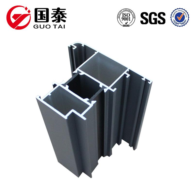 Profilé en aluminium adapté aux besoins du client d'extrusion pour la fenêtre et la porte, fabricant supérieur de profil en aluminium, tube en aluminium