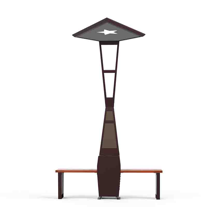Chargeur mobile pour banc solaire de siège solaire de pôle de publicité Ourdoor