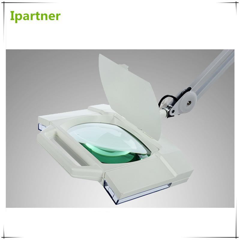 Ipartner Hot vente cosmétique lampe loupe pour les tests de la peau avec la lumière fraîche en verre carré