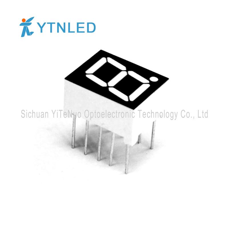 Affichage à LED 7 segments de 0,39 pouce rouge à 1 chiffre, tube numérique