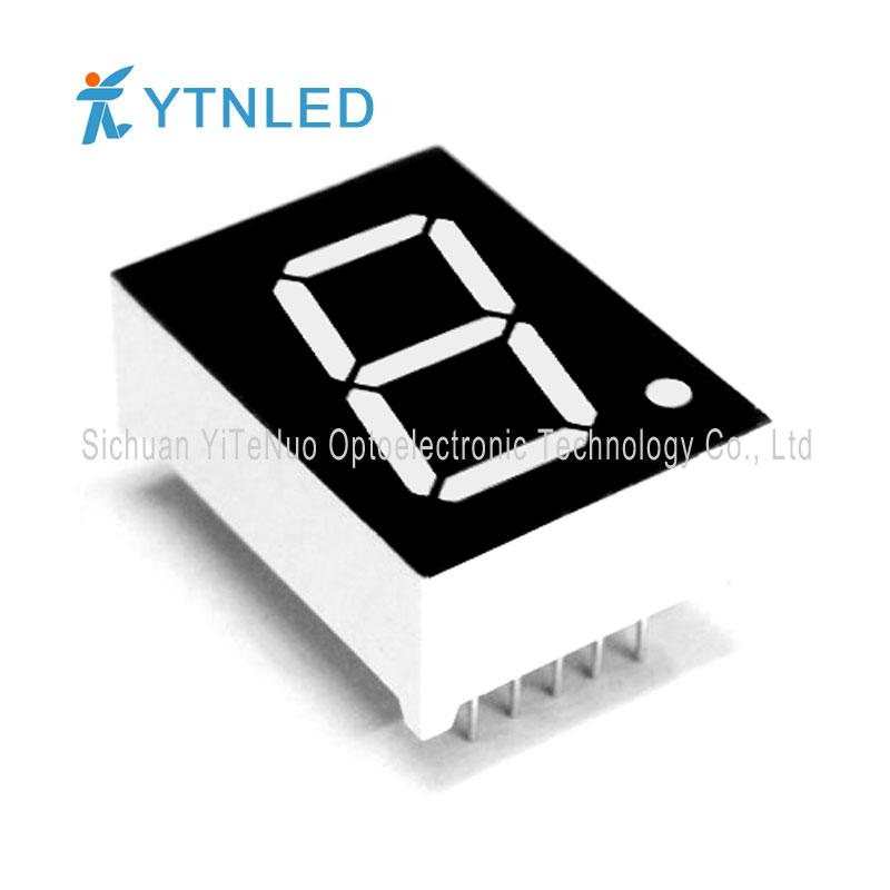 Afficheur à LED 7 segments 0,8 pouce rouge à 1 chiffre, tube numérique