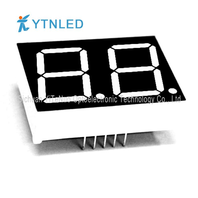 Afficheur à LED 7 segments rouge 0,8 pouces à 2 chiffres, tube numérique