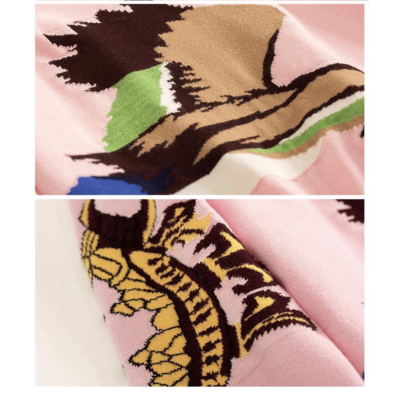 Pull personnalisé de pullover de pullover de pull de femmes d'oie sauvage de jacquard d'Intarsia de jacquard de logo d'OEM et d'ODM