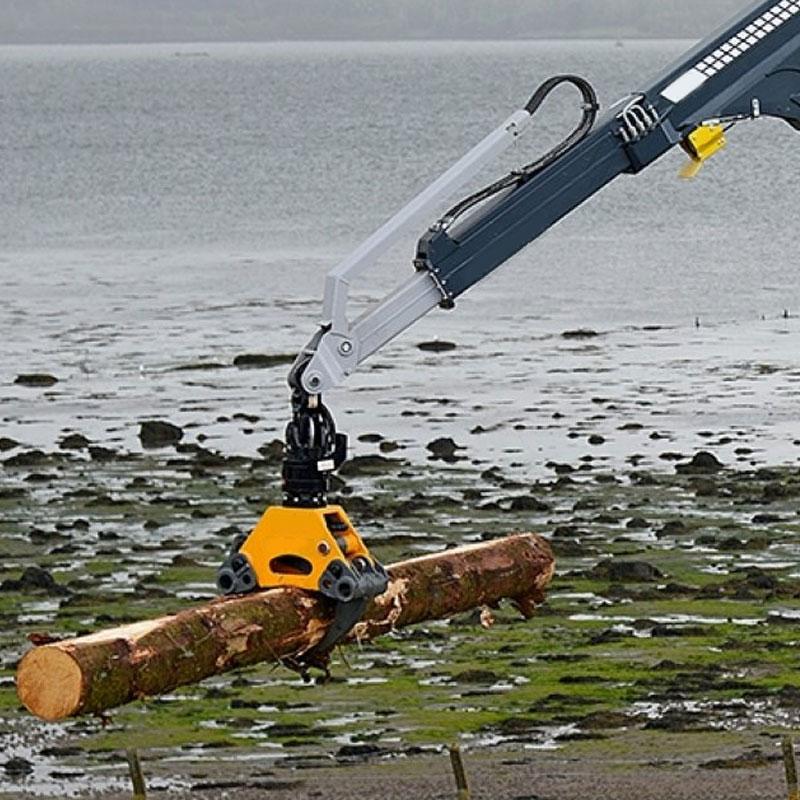 Grue à portique pour la manutention du bois