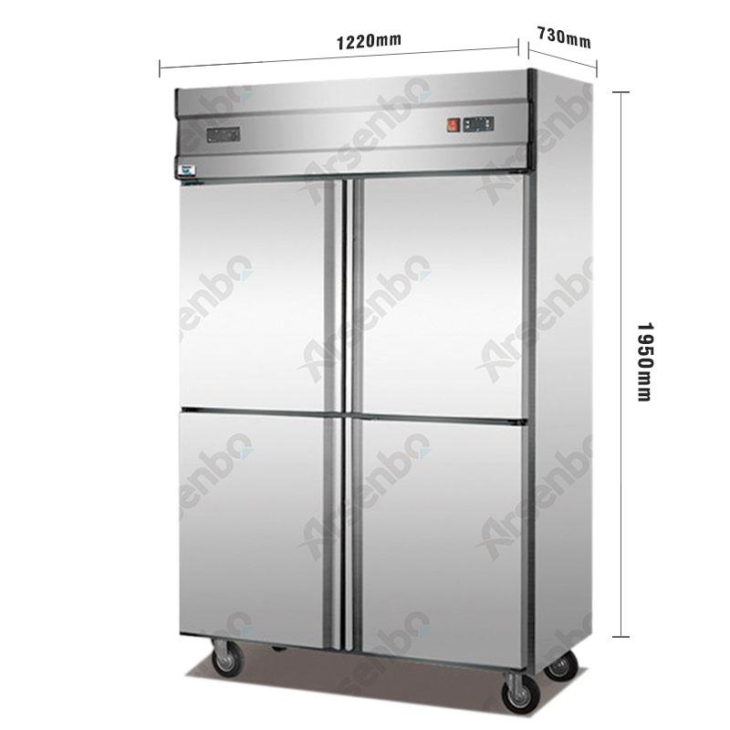 Congélateur vertical et réfrigérateur pour les boissons de la cuisine commerciale, les restaurants et les hôtels