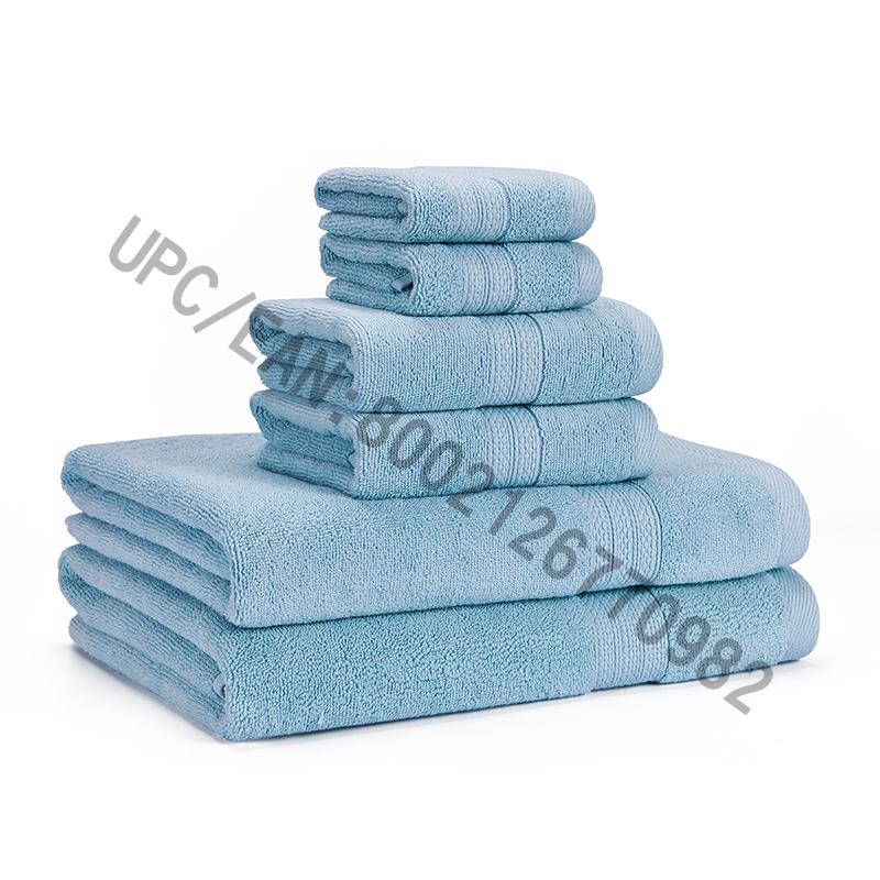 Jeu de serviettes de bain Clearance, Serviettes en coton peigné, ensemble de 6,2 débarbouillette, 2 serviettes de toilette, 2 serviettes de bain, Serviettes de bain