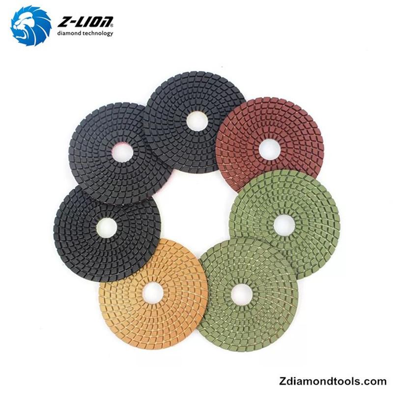 Tampons de polissage flexibles pour diamants humides de résine Z-LION ZL-123C pour projets de pierre