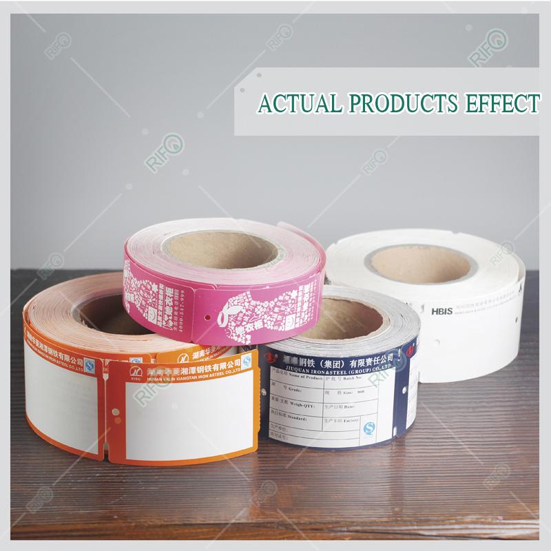 Longue durabilité barres d'acier étiquettes de suspension étiquettes de saturation des couleurs élevées