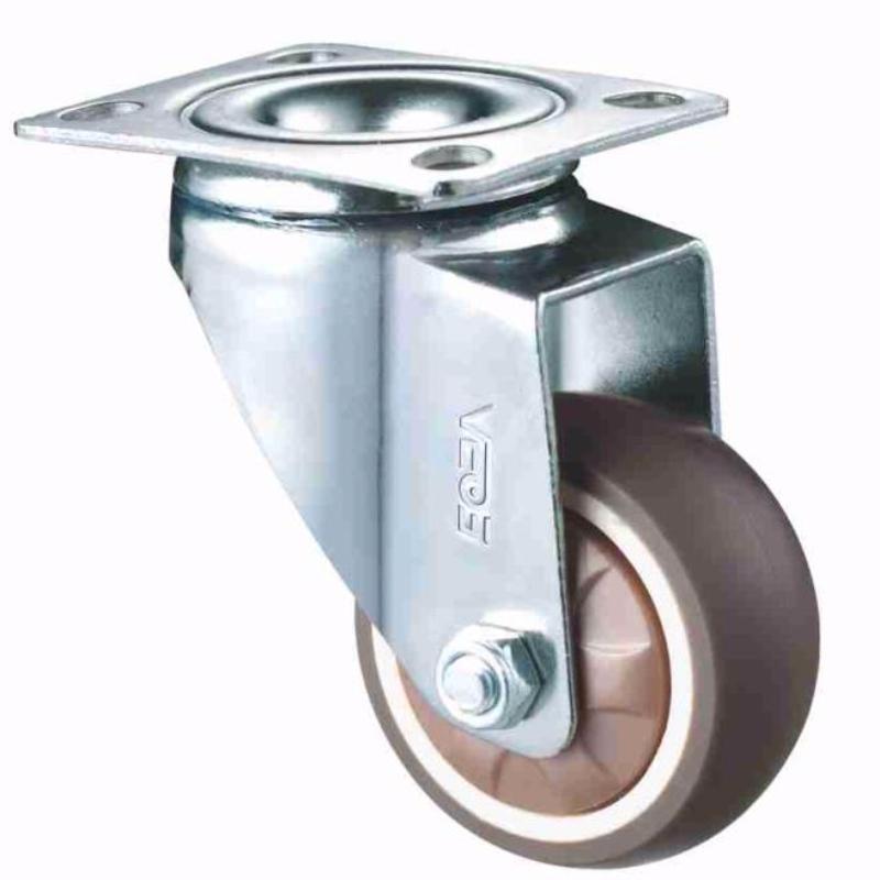 Boîtier de chrome léger, roue TPR à bande de roulement souple