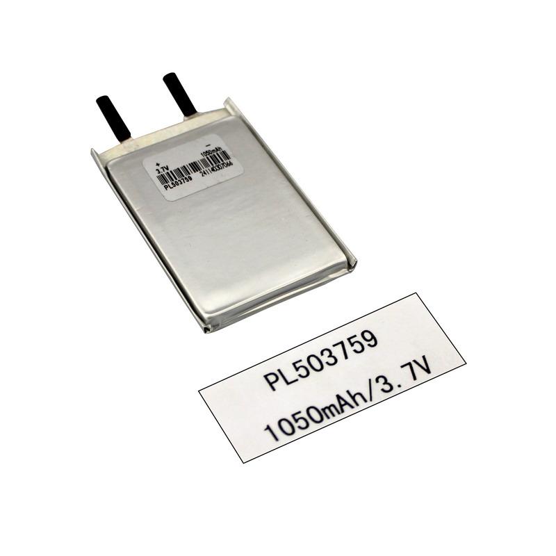 Pile de produit numérique 3.7V Litho Ion Lipo Polymer 1050mAh