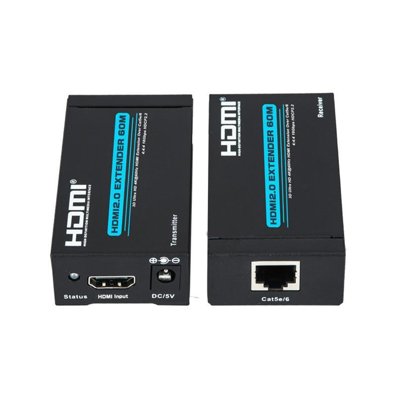 Nouveau produit V 2.0 HDMI extender 60 m sur un support unique cat5e \/ 6 Ultra HD 4Kx2K @ 60Hz HDCP2.2