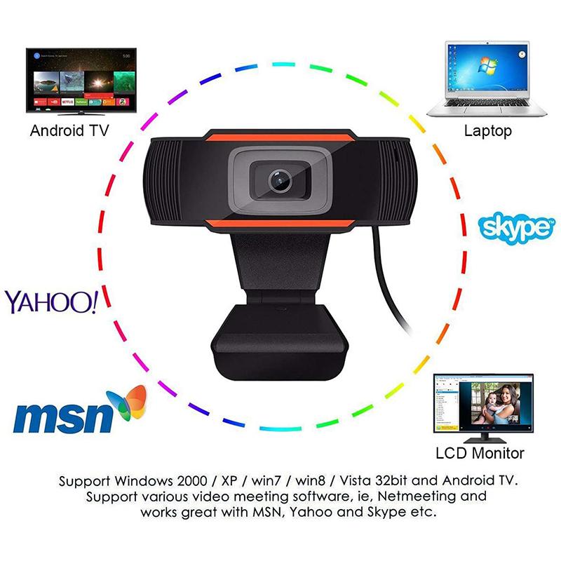 HD 1080p ordinateur Réseau caméra caméra ordinateur Bureau rotatif USB 2.0 caméra avec microphone numérique