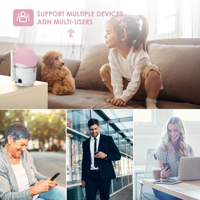 2mp 1080p HD Intelligent Home ai Wireless Yuntai IP Camera