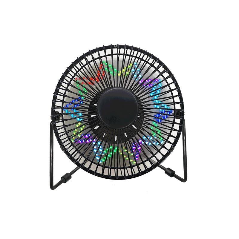 Ventilateur d 'horloge USB - LED de bureau à affichage de température (6 pouces)